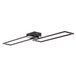 Briloner LED stropní světlo Frame, dálkový ovladač, černá