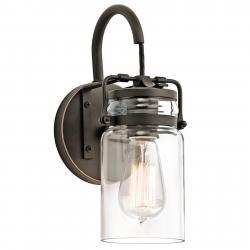 KICHLER Transparentní stínidlo - nástěnné světlo Brinley