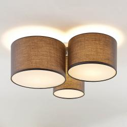 Lindby Lindby Laurenz stropní svítidlo, 3 žárovky šedá