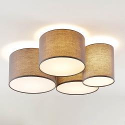 Lindby Lindby Laurenz stropní svítidlo, 4 žárovky šedá