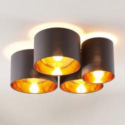 Lindby Lindby Laurenz stropní svítidlo, 4ž, šedo-zlatá