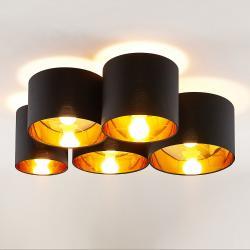 Lindby Lindby Laurenz stropní svítidlo 5ž 83cm černozlatá