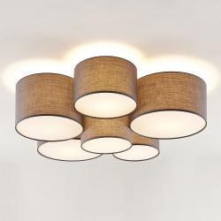 Lindby Lindby Laurenz stropní svítidlo, 6 žárovek, šedá