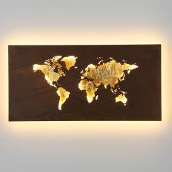 Wofi LED nástěnné světlo Linda, design mapy, 60x30cm