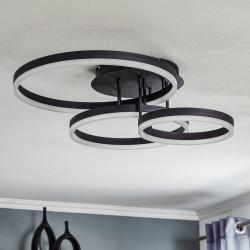 Wofi LED závěsné svítidlo Vaasa, stmívatelné, černé