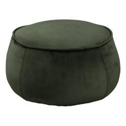 Tmavě zelený sametový puf Actona Mie, ⌀ 60 cm