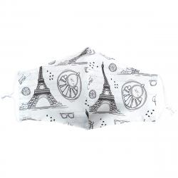 Ústní bavlněná rouška Eiffelova věž medium, M