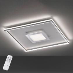 FISCHER & HONSEL LED stropní světlo Bug čtvercové, chrom 40x40cm