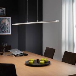 FISCHER & HONSEL LED závěsné světlo Metz s tlačítkem, 160 cm hliník