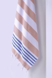 Bavlněná osuška DecoKing Torini modro-béžová