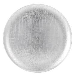DekorStyle Dekorační talíř stříbrný 33 cm