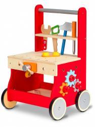 ECOTOYS Dřevěná dílna pro děti červená