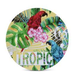 DekorStyle Kulatý talíř Yellow Tropic 33 cm
