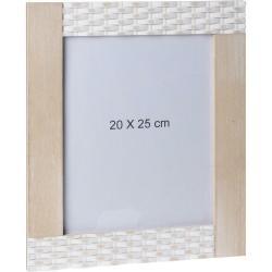 DekorStyle Obdélníkový nástěnný rámeček 20x25 cm - hnědá