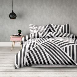 Povlečení z bavlny AmeliaHome Stripes černo-bílé