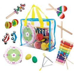ECOTOYS Sada hudebních nástrojů pro děti + taška