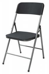 TZB Skládací zahradní židle WOODY šedá