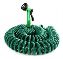 Zahradní spirálová hadice 15 m Bluegarden - zelená