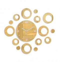 Mazur 3D nalepovací hodiny Rings zlaté