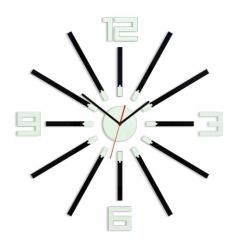 Mazur 3D nalepovací hodiny Sheen černo-bílé