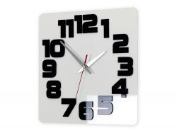 Mazur Nástěnné hodiny Logic bílo-černé