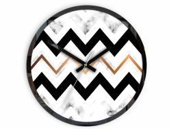 Mazur Nástěnné hodiny Marble černo-bílé
