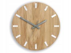 Mazur Nástěnné hodiny Simple Oak hnědo-bílé