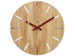 Mazur Nástěnné hodiny Wood Solo hnědé