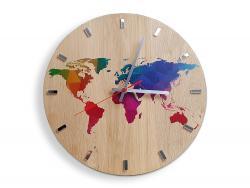 Mazur Nástěnné hodiny World Wood hnědé