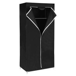 Rongomic Šatní textilní skříň Yuma černá
