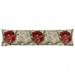 Boma Trading Ozdobný těsnící polštář do oken Růže červená, 22 x 90 cm