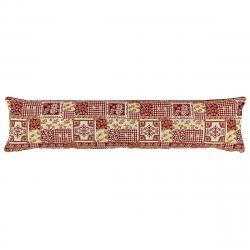 Boma Trading Ozdobný těsnící polštář do oken Gobelín červená, 22 x 90 cm