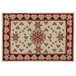Boma Trading Vánoční prostírání Srdíčka červená, 32 x 48 cm