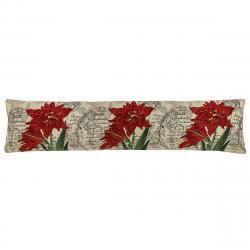 Boma Trading Ozdobný těsnící polštář do oken Lilie červená, 22 x 90 cm