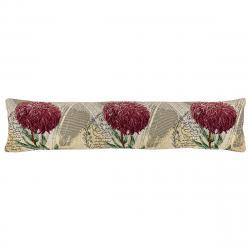 Boma Trading Ozdobný těsnící polštář do oken Chryzantéma fialová, 22 x 90 cm