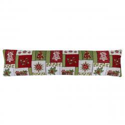 Boma Trading Ozdobný těsnící polštář do oken Vánoce zelená , 22 x 90 cm