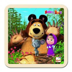 Bino Puzzle Máša, medvěd a maliny, 15 x 15 cm