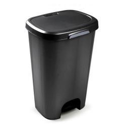 Koš odpadkový nášlapný 50l černá  63,5X41X36cm