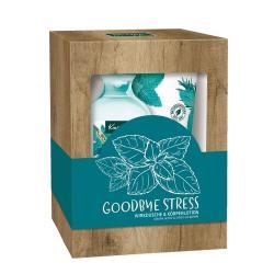 Kneipp Sada sprchového gelu a tělového mléka Goodbye Stress, 2 ks