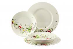 Dárková sada porcelánu Rosenthal Brillance Fleurs Sauvages, talíře, 4ks