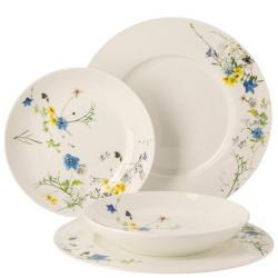 Dárková sada porcelánu Rosenthal Brillance Fleurs des Alpes, talíře, 4ks