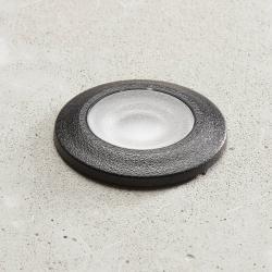 Fumagalli LED podhledové světlo Aldo kulaté černá/čirá 3000K