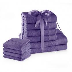 Amelia Home Sada bavlněných ručníků AmeliaHome AMARI 2+4+4 ks fialová