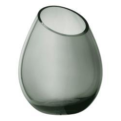 Zelená skleněná váza Blomus Raindrop,výška24cm