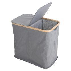 DekorStyle Dvoukomorový koš na prádlo Esmerid šedý