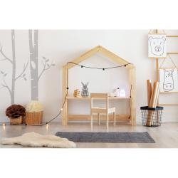 Domečkový dětský pracovní stůl z borovicového dřeva Adeko Bran,40x100cm