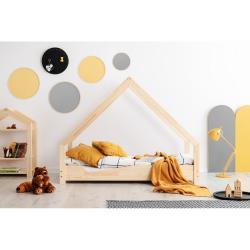 Domečková dětská postel z borovicového dřeva Adeko Loca Ana,100x160cm