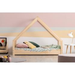 Domečková dětská postel z borovicového dřeva Adeko Loca Dork,90x180cm