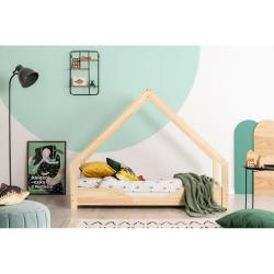 Domečková dětská postel z borovicového dřeva Adeko Loca Bon,100x150cm