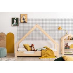 Domečková dětská postel z borovicového dřeva Adeko Loca Cassy,70x180cm
